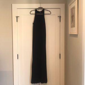 Vince Sleeveless Long Black Dress, Medium